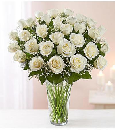 White Roses Three Dozen