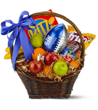 Teleflora's Goalpost Goodies Basket