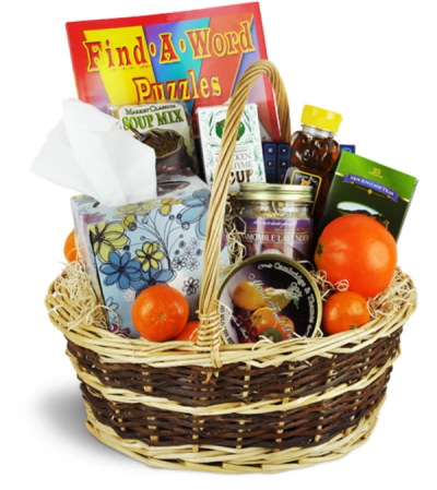 Get Well Wishes Basket™ by Lovingly