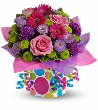 Polka Dot Present Bouquet