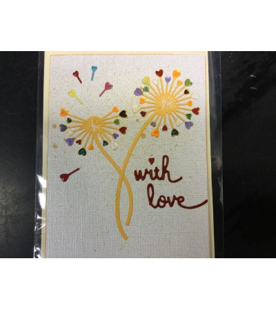 Greeting Card supporting local artist - With Love