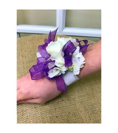 White & Purple Standard Wristlet