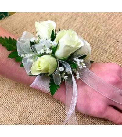 White Spray Rose Standard Wristlet