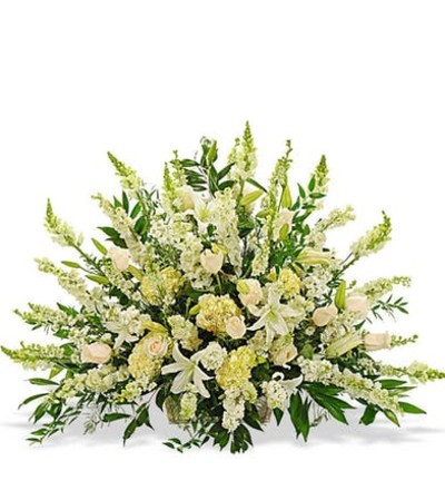 Elegant White Funeral Display