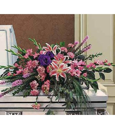 Stylish Pastel Casket Spray