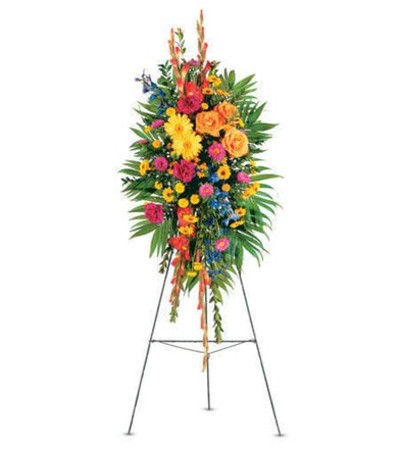 Celebration of Life Standing Spray Easel