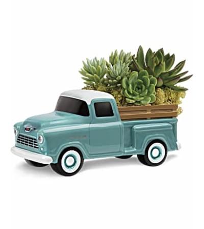 50's Vintage Chevy Truck Succulent Bouquet