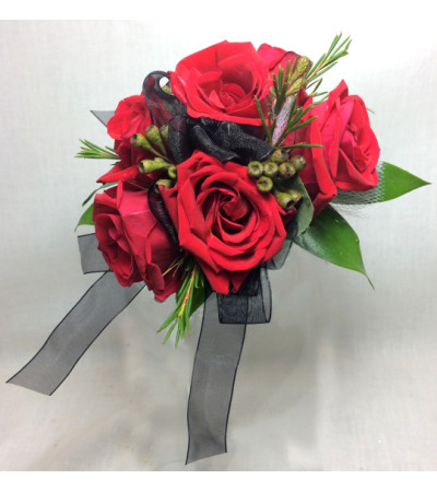 Red Hot Wrist Corsage