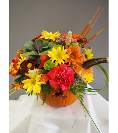 Fresh Pumpkin Arrangment
