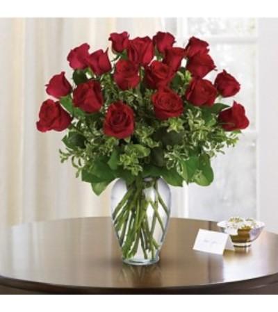 18 Long Stem Red Roses