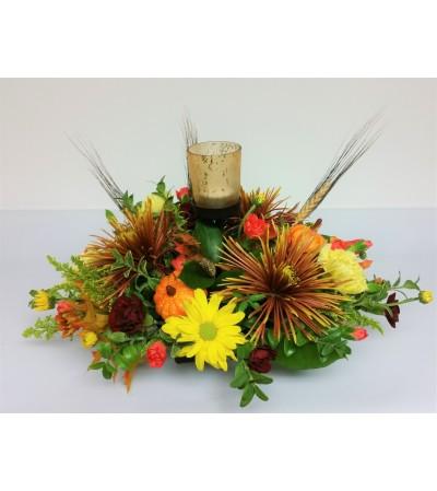 Votive Autumn Centerpiece