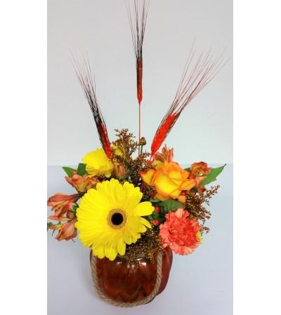 Glassy Pumpkin of Flowers