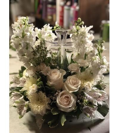 Peaceful Cross Bouquet