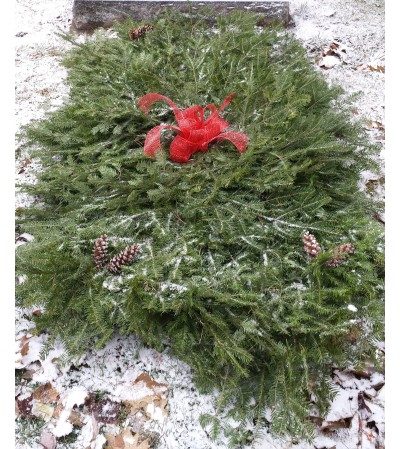 Evergreen Grave Blanket