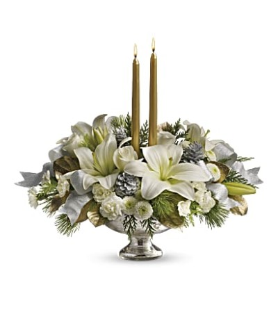 Silver And Gold Centerpiece TWR09-1
