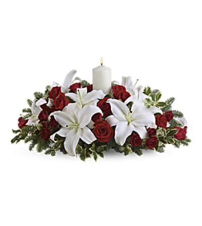 Luminous Lilies Centerpiece T128-3