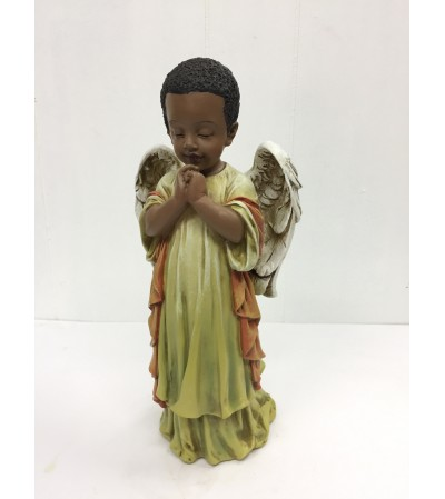 Resin Praying Black Angel