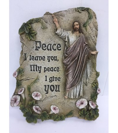 """Resin Plaque """"peace I leave you, My peace I give you"""""""