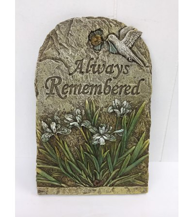 """Resin plaque """"Always Remembered"""""""