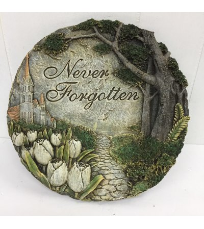 """Never Forgotten"" Resin round plaque"