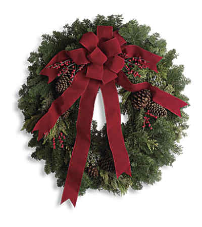 Classic Holiday Wreath T129-1