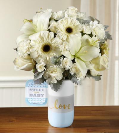 TCG Ftd's Sweet Baby Boy Bouquet- Deluxe