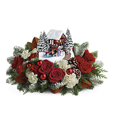 Thomas Kinkade Snowfall Dreams Bouquet