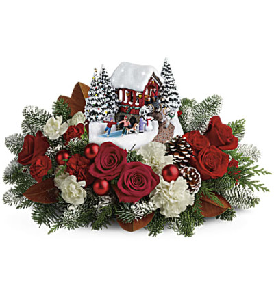 Thomas Kinkade Snowfall Dream Bouquet