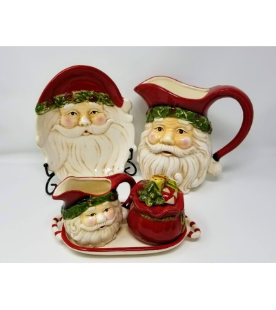 Retro Santa Serving Set