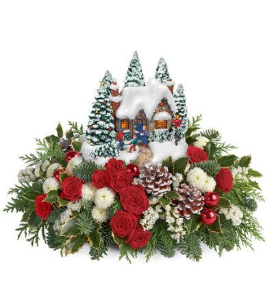 Thomas Kinkade Christmas Flowers 2015