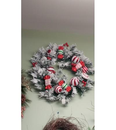 Artificial Candy Wreath