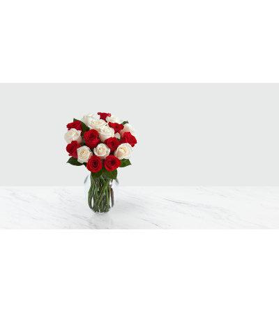 Candy Cane Roses (Vase)