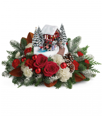 Teleflora's Thomas Kincaid Snowfall Dreams Bouquet