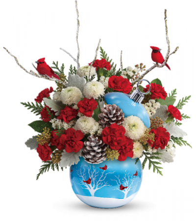 Teleflora's Cardinals int he Snow Ornament