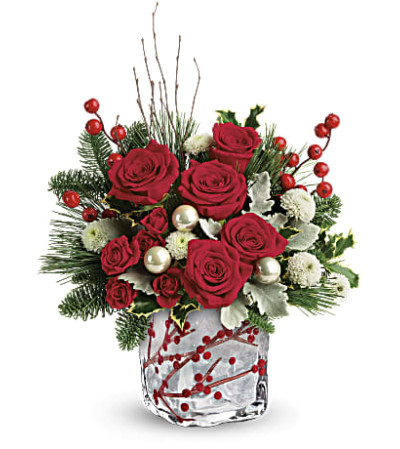 Winterberry Kisses Bouquet By Teleflora