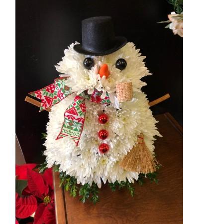 """Frost E. Winters"" Floral Snowman"