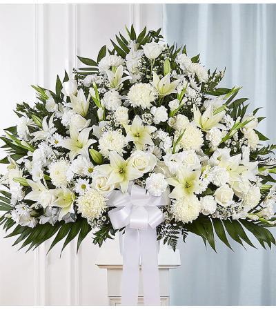 Heartfelt Sympathies Standing Basket-White XL