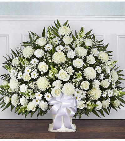 Heartfelt Tribute Floor Basket White XL