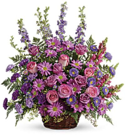 Teleflora Gracious Lavender Basket