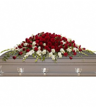 Teleflora Garden of Grandeur Casket Spray