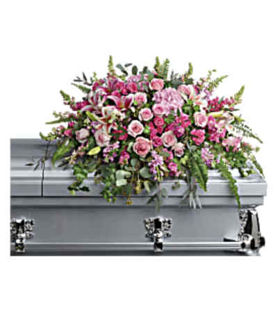 Teleflora's  Beautiful Memories Casket Spray
