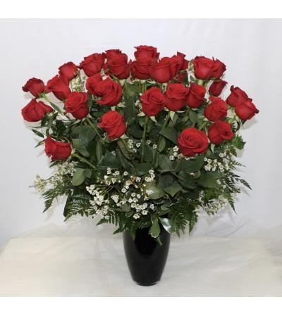 3 Dozen Premium Red Roses