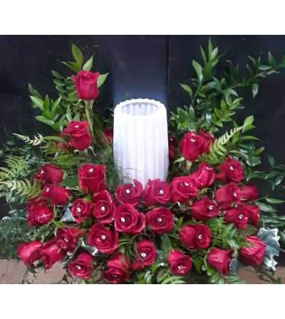 RED ROSE CREMATION TRIBUTE