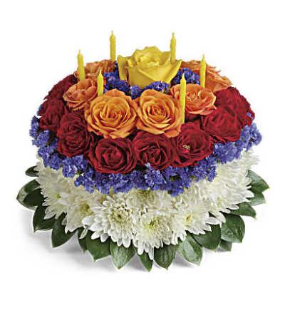 Your Wish is Granted Birthday Cake Bouquet Premium