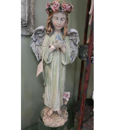 Angel with Floral Halo