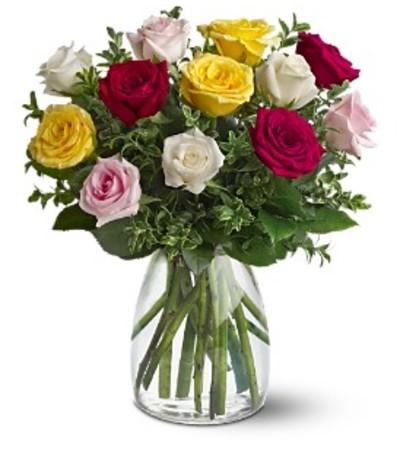 Teleflora's A Dozen Mixed Roses