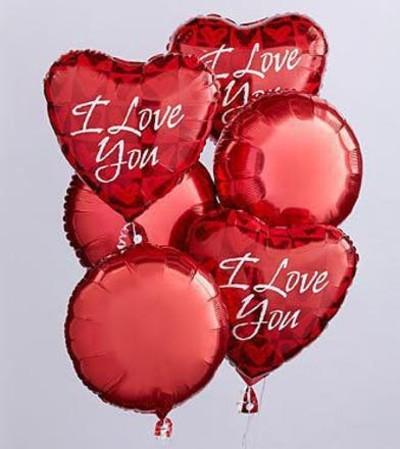I Love You Valentines Mylars