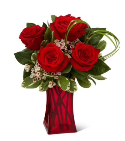 The FTD Rush Of Romanc Red Rose Bouquet