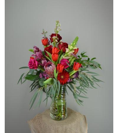 Passion Red vase