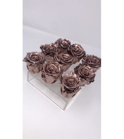 Forever Roses In Acrylic Box